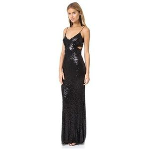 NWT BADGLEY MISHKA SEQUIN GOWN FITS A SIZE 4